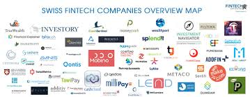 Swiss Map Swiss Fintech Companies Overview Map 65 Startups Born In