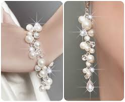 wedding necklace pearls images Wedding jewelry set wedding pearl jewelry set swarovski jpg