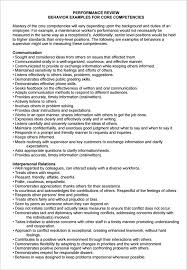 gallery of employee performance appraisal examples employee
