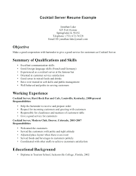 server resume template server resume template sample restaurant server resume sample