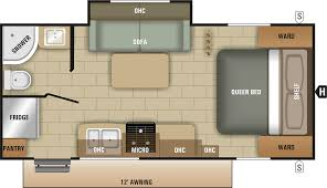 travel trailer floor plan 2018 launch outfitter 21fbs