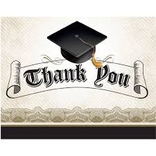 graduation thank you notes cap and gown graduation thank you notes 25pk walmart