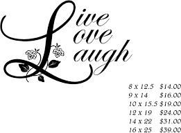live love laugh with flowers