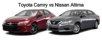 nissan altima 2016 vs toyota camry vs nissan altima
