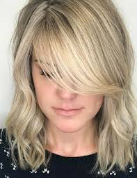 lob hairstyles with bangs 20 hairstyles with side swept bangs that will sweep you off your feet