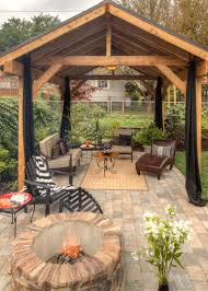 Gazebo Fire Pit Ideas by Backyard Retreat Http Www Paradiserestored Com Portfolio