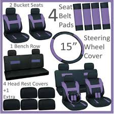 siege volant pc adaptateur universel 16 pc ensemble violet housses de siège de