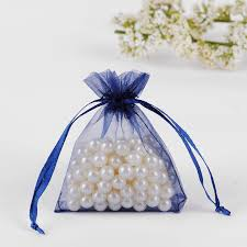 tulle bags 7x9cm navy blue organza jewelry bags cheap organza pouches wedding