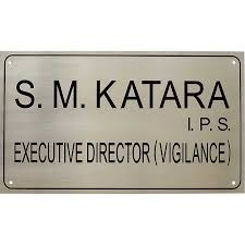 customized house office stainless steel name plate buy