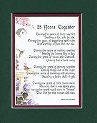 25 year anniversary gifts 25th anniversary gift word printable gift 25th wedding