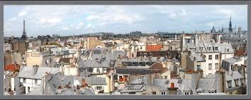 stickers trompe oeil mural fake window sticker paris u0027 roofs panoramic instant window wall