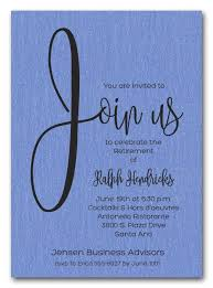 retirement party invitations shimmery blue join us retirement party invitations