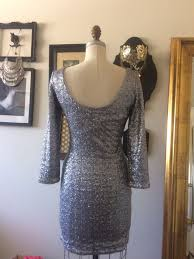 cool amazing orsay silver sequin dress holiday christmas party