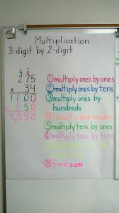 multiplication 3 digit by 2 digit anchor chart education anchor