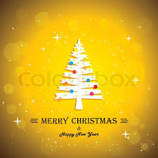 merry christmas greeting card poster u0026 xmas tree concept vector