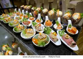 mini canape catering food mini canape stock photo 768247510