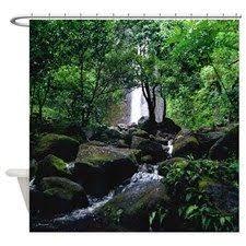 Rainforest Shower Curtain - autumn lake view shower curtain for shower curtains pinterest