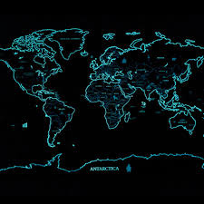 glow in the dark poster glow in the dark fluorescence world map scratch off map travel map