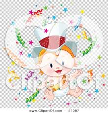 new year sash royalty free rf clipart illustration of a strawberry blond