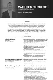 Examples Of Resumes Australia by Geologist Resume Samples Visualcv Resume Samples Database