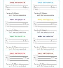 raffle ticket template free word pdf format download creative