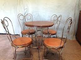 ice cream parlor table and chairs set ice cream parlor table and chair antique ice cream parlor soda