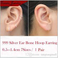 hoop cartilage earrings shop hoop huggie online sterling silver small endless hoop