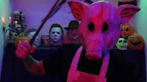 horse head mask spirit halloween psycho killer pig mask fun world youtube