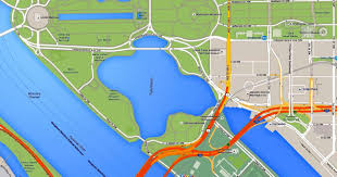 Map Of Washington Dc Monuments by Where Is The Tidal Basin In Washington Dc See A Map