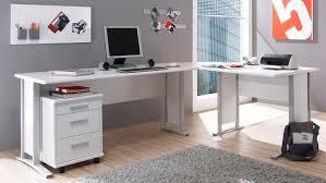 Winkelkombination Büro Office Line In Weiß Mit Rollcontainer