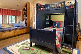 Bunk Bed With Table Underneath Bed With Desk Underneath Kids Contemporary With Bunk Beds Loft