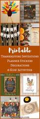 printable thanksgiving invitations planner stickers decorations