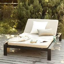 Outdoor Chaise Lounges Furniture Brown Outdoor Chaise Lounge With White
