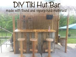 How To Build A Tiki Hut Roof Pallet Tiki Bars Diy Tiki Hut Bar Made With Found And Repurposed