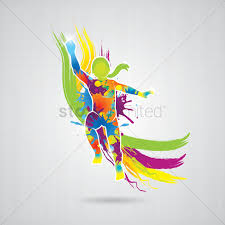 dancing with colorful splash vector image 1566284