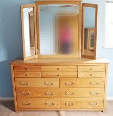 blackhawk solid california oak nine drawer dresser with mirror ebth blackhawk solid california oak nine drawer dresser with mirror