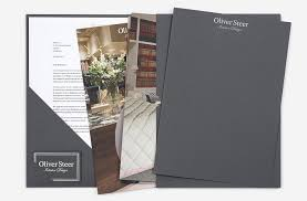 Modern Business Card Case Luxury Presentation Folder With Die Cut Letterhead And Business