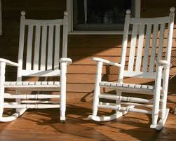 Small Porch Chairs Outdoor Outside Wooden Rocking Chairs Brown Outdoor Rocking