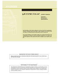 veracruz 2010my owners manual seat belt gasoline