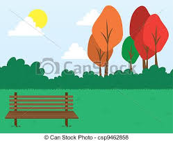 Park Bench Scene Vector Of Park Scene Park Scene With Bench In The Grass