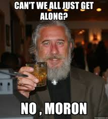 Can T We All Just Get Along Meme - can t we all just get along no moron true guy meme generator