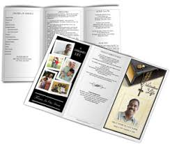 Funeral Program Printing Services Trifold Funeral Program Example Funeral Programs With Collage