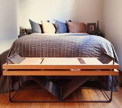 Red Bedroom Bench Repurposed Rebar And Red Oak Bench Industrial Bedroom