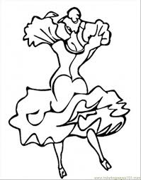 spanish dancer coloring coloring