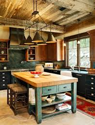 appealing rustic kitchen lighting and rustic kitchen island