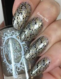 ehmkay nails double stamping nail art with powder perfect divine
