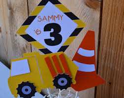 Construction Themed Centerpieces by Tonka Truck Birthday Etsy