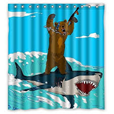 Amazon Com Unique 72 by Amazon Com Unique Bear Riding Shark Funny Desugn Waterproof