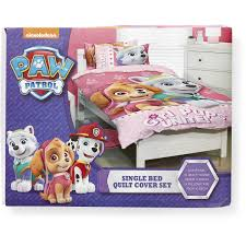 Girls Single Duvet Covers Paw Patrol Girls Quilt Cover Set Single Big W