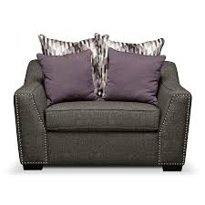 Upholstered Loveseat Chairs Ritz Chair And A Half Value City Furniture New House